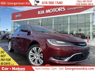 Used 2016 Chrysler 200 Limited|CLEAN CARFAX|SUNROOF|BU CAM|HTD SEATS for sale in Georgetown, ON