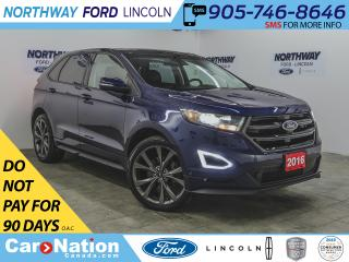 Used 2016 Ford Edge Sport | AWD | NAV | PWR HTD LEATHER | PANOROOF | for sale in Brantford, ON