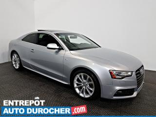 Used 2016 Audi A5 Premium AWD TOIT OUVRANT - A/C - Sièges Chauffants for sale in Laval, QC