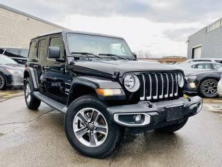Used 2019 Jeep Wrangler Unlimited |SAHARA|LEATHER|REAR CAM|NAVIGATION|APPLE CAR PLAY! for sale in Brampton, ON