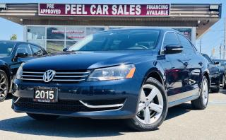 Used 2015 Volkswagen Passat SE 6A| VIDEO.CALL.US| COMFORTLINE| REARVIEW|LEATHER|SUNROOF|HEATEDSEATS| CLEAN CARFAX| for sale in Mississauga, ON