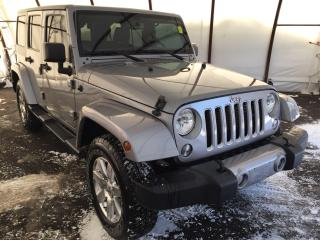 Used 2016 Jeep Wrangler Unlimited Sahara LEATHER HEATED SEATING, FACTORY REMOTE START, NAVIGATION, ALPINE AUDIO WITH SUBWOOFER, MAX TOW GROUP for sale in Ottawa, ON