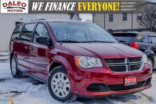 Used 2016 Dodge Grand Caravan CVP | 7 PASS | LOW KMS | REAR AIR CONDITIONING for sale in Hamilton, ON