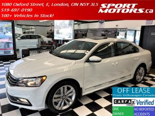Used 2016 Volkswagen Passat Highline+Adaptive Cruise+GPS+Roof+Accident Free for sale in London, ON