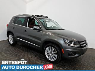 Used 2016 Volkswagen Tiguan HIGHLINE AWD NAVIGATION - Toit Ouvrant - A/C -Cuir for sale in Laval, QC