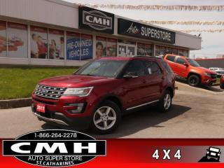 Used 2017 Ford Explorer XLT  4X4 NAV LEATH PANO CAM P/SEATS HS for sale in St. Catharines, ON