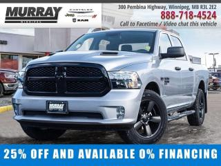 New 2020 RAM 1500 Classic Express 4x4 Crew Cab Save $12,853 - $238/bw for sale in Winnipeg, MB