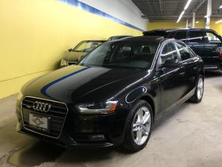 Used 2013 Audi A4 Premium AWD, 6 Speed, Sunroof, Leather for sale in Vaughan, ON