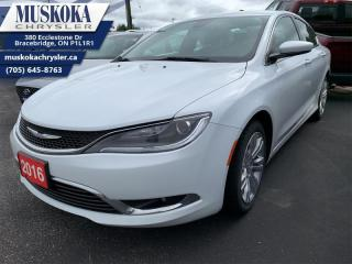 Used 2016 Chrysler 200 Limited  - Certified -  Bluetooth for sale in Bracebridge, ON
