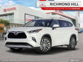 New 2020 Toyota Highlander Platinum  - Leather Seats - $210.09 /Wk for sale in Richmond Hill, ON