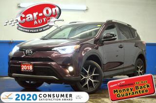 Used 2018 Toyota RAV4 SE AWD 12,000 KM LEATHER NAV SUNROOF REAR CAM HTD for sale in Ottawa, ON