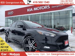 Used 2017 Ford Focus ST|LEATHER | ROOF | NAVI | BU CAM | HTD SEATS| B/T for sale in Georgetown, ON