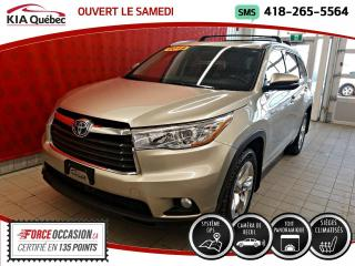 Used 2014 Toyota Highlander Hybride LIMITED* AWD* GPS* TOIT PANO* CUIR* for sale in Québec, QC