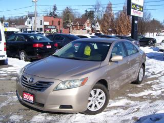 Used 2008 Toyota Camry HYBRID,CERTIFIED,BLUETOOTH, LOW KM'S,AUX PORT, for sale in Kitchener, ON