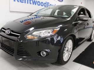 Used 2014 Ford Focus 3 Mos Deferral!Titanium hatchback with NAV, sunroof, heated power leather seats and a back up cam for sale in Edmonton, AB