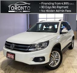 Used 2016 Volkswagen Tiguan S Special Edition Back-Up, Bluetooth Clean Carfax NO Accident for sale in North York, ON