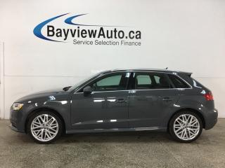 Used 2018 Audi A3 e-tron 1.4T Progressiv - HTD LEATHER! NAV! PANOROOF! PLUG IN HYBRID! for sale in Belleville, ON