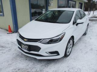 Used 2017 Chevrolet Cruze LOADED PREMIER EDITION 5 PASSENGER 1.4L - TURBO.. LEATHER.. HEATED SEATS.. BACK-UP CAMERA.. BLUETOOTH SYSTEM.. KEYLESS ENTRY & START.. for sale in Bradford, ON