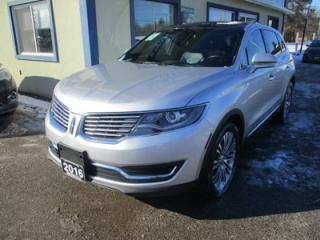 Used 2016 Lincoln MKX ALL-WHEEL DRIVE RESERVE EDITION 5 PASSENGER 3.7L - V6.. NAVIGATION.. PANORAMIC SUNROOF.. LEATHER.. HEATED/AC SEATS.. BACK-UP CAMERA.. BLUETOOTH.. for sale in Bradford, ON