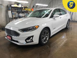 Used 2019 Ford Fusion Hybrid Titanium * Navigation * Letaher * Sunroof * Heated and a/c cooled front seats * Blind spot assist * Reverse camera with park assist * Automatic Emerge for sale in Cambridge, ON