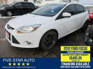 Used 2012 Ford Focus SE - Certified w/ 6 Month Warranty for sale in Brantford, ON