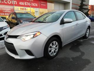 Used 2016 Toyota Corolla CE * MIRROIRS CHAUFFANTS ATTELAGE DE BICYCLETTE * for sale in Longueuil, QC