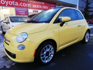Used 2012 Fiat 500 POP CONVERTIBLE * AIR**GROUPE ÉLECTRIQUE * for sale in Longueuil, QC
