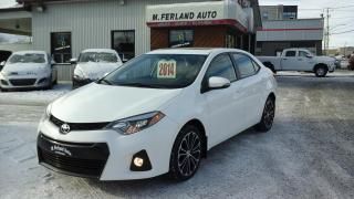Used 2014 Toyota Corolla Berline 4 portes, boîte manuelle, S for sale in Sherbrooke, QC