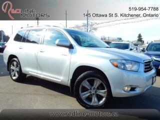 Used 2010 Toyota Highlander Sport.7Pass.Leather.Roof.Camera.OneOwner.Low Kms for sale in Kitchener, ON