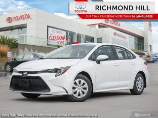 New 2020 Toyota Corolla L CVT  -  Apple CarPlay - $67.26 /Wk for sale in Richmond Hill, ON