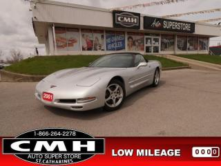 Used 2001 Chevrolet Corvette LEATHER AUTO LOW-MILEAGE for sale in St. Catharines, ON