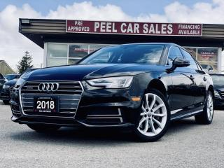 Used 2018 Audi A4 2.0T Progressive | VIDEO.CALL.US| SUNROOF| NAVI| LEATHER| 360 CAMERA VIEW| CLEAN CARFAX| FRONT CAMERA| for sale in Mississauga, ON