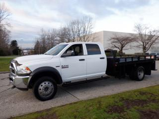 Used 2015 RAM 5500 Crew Cab Flat Deck 10 foot 4WD Dually for sale in Burnaby, BC