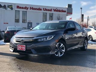 Used 2016 Honda Civic Sedan LX -  Heated Seats - Rear Camera - ECON!!! for sale in Mississauga, ON
