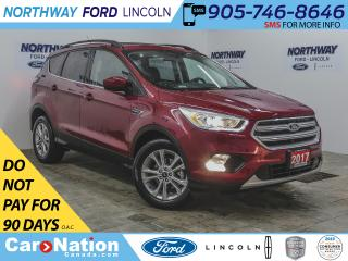 Used 2017 Ford Escape SE | NAV | HTD LEATHER | BACKUP CAM | PANOROOF | for sale in Brantford, ON