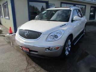 Used 2012 Buick Enclave ALL-WHEEL DRIVE PREMIUM EDITION 7 PASSENGER 3.6L - V6.. CAPTAINS.. 3RD ROW.. NAVIGATION.. LEATHER.. HEATED/AC SEATS.. BACK-UP CAMERA.. DUAL SUNROOF.. for sale in Bradford, ON