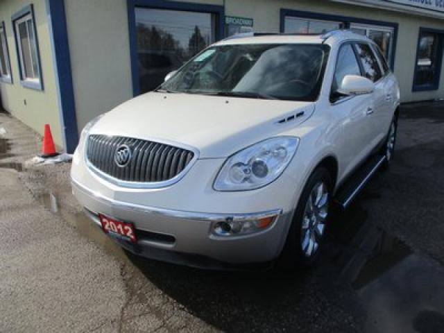 2012 Buick Enclave ALL-WHEEL DRIVE PREMIUM EDITION 7 PASSENGER 3.6L - V6.. CAPTAINS.. 3RD ROW.. NAVIGATION.. LEATHER.. HEATED/AC SEATS.. BACK-UP CAMERA.. DUAL SUNROOF..
