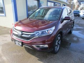 Used 2016 Honda CR-V ALL-WHEEL DRIVE TOURING EDITION 5 PASSENGER 2.4L - DOHC.. NAVIGATION.. LEATHER.. HEATED SEATS.. POWER SUNROOF.. BACK-UP CAMERA.. BLUETOOTH.. for sale in Bradford, ON