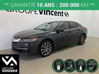 Used 2015 Acura TLX 3.5L V6 SH-AWD GPS CUIR TOIT ** GARANTIE 10 ANS ** Véhicule performant et fiable! for sale in Shawinigan, QC