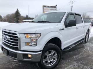 Used 2016 Ford F-150 XLT Crew Cab 4x4 with Bucket Seats, BackupCam, Bluetooth, Integrated Trailer Brake, Pwr Windows, Keyless for sale in Kemptville, ON