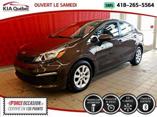 Used 2016 Kia Rio LX+* AUTOMATIQUE* A/C* BLUETOOTH* for sale in Québec, QC