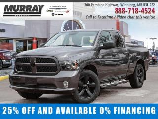 New 2020 RAM 1500 Classic Express 4x4 Quad Cab Save $13,113 - $216/bw for sale in Winnipeg, MB