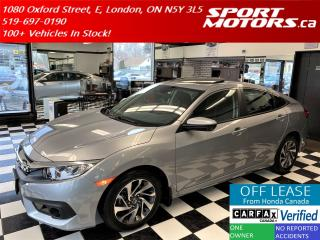 Used 2018 Honda Civic EX+Lane Keep+Camera+Apple Play+Roof+Accident Free for sale in London, ON