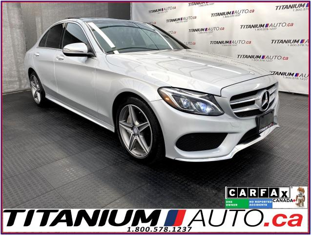 2016 Mercedes-Benz C-Class AMG PKG+4Matic+GPS+Camera+Pano Roof+Blind Spot+