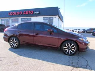 Used 2015 Honda Civic TOURING NAVIGATION CAMERA LEATHER CERTIFIED for sale in Milton, ON