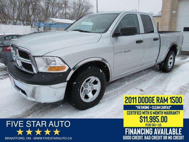 2011 RAM 1500 4x4 ST *Clean Carfax* Certified + 6 Month Warranty