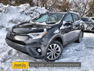 Used 2017 Toyota RAV4 Limited CINNAMON SOFTEX SURFACES  ROOF  NAVI  BLIS for sale in Ottawa, ON