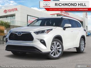 New 2020 Toyota Highlander Limited  - Leather Seats - $201.48 /Wk for sale in Richmond Hill, ON
