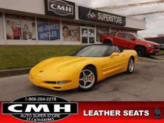 Used 2001 Chevrolet Corvette CONV HUD LEATH P/SEATS AUTO for sale in St. Catharines, ON