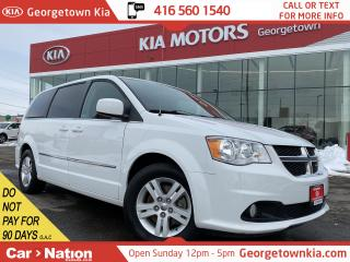 Used 2015 Dodge Grand Caravan Crew Plus | NAVI | DVD | LEATHER | CAM | PWR DOORS for sale in Georgetown, ON